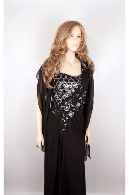 Вечернее платье Regina черного цвета в пол