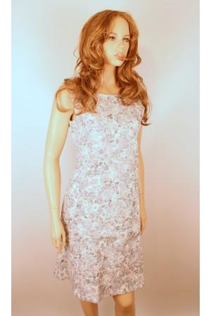 Нежно-белое платье Cream с цветочным узором