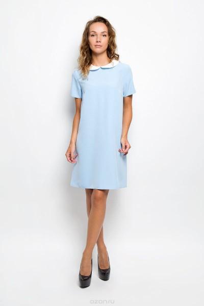 Голубое платье с белым воротничком  F5 (Италия)