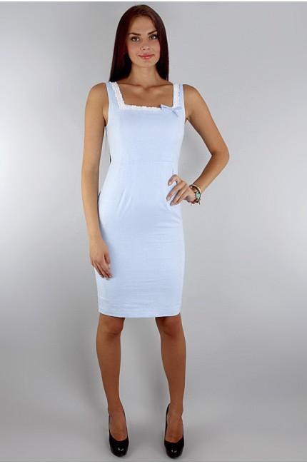 Легкое и нежное летнее голубое платье FEVER