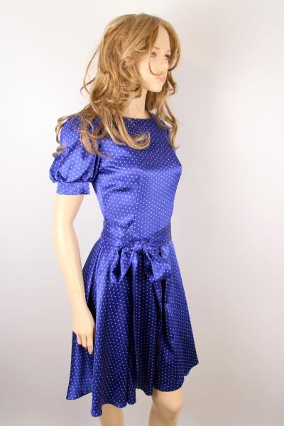 Синее платье в белый горошек  DOMINIKA KLEIN (Италия)