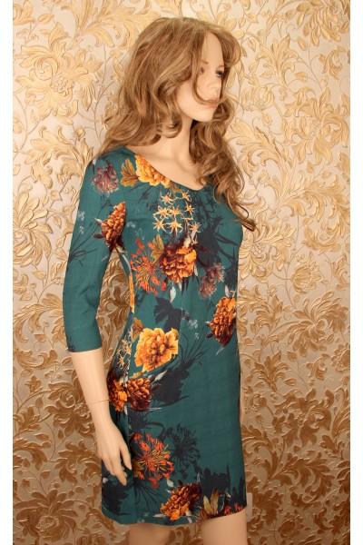 Зеленое Платье tops tops (Турция) с карманами