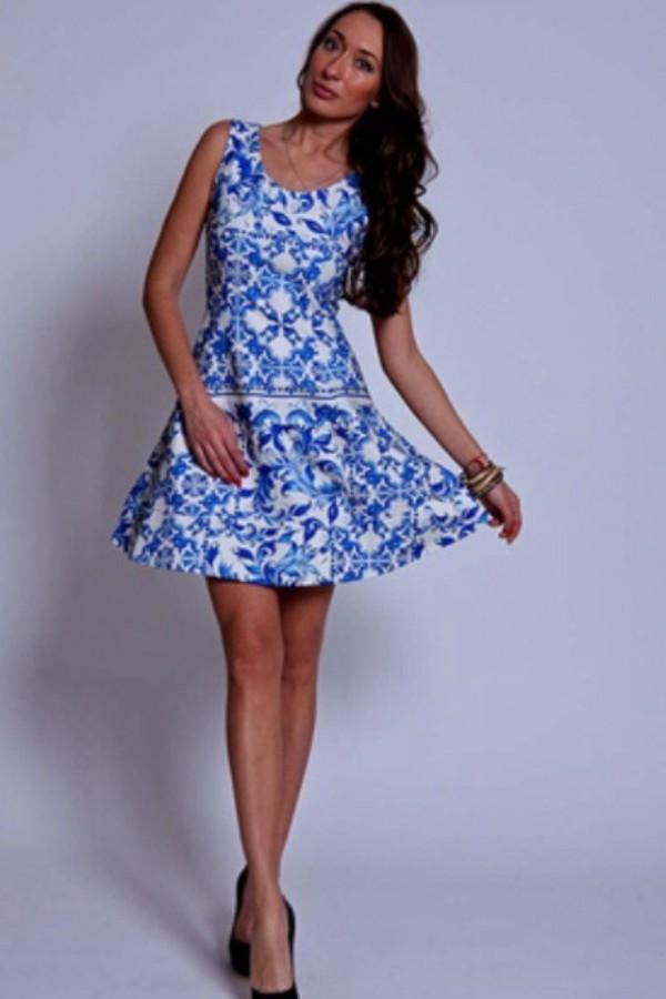 04b36772cc5970c Купить Голубое Платье с рисунком RINASCIMENTO (Италия)
