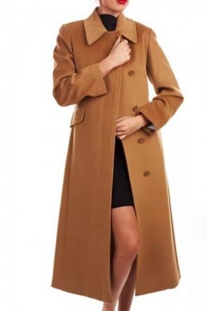Коричневое пальто Expression пастельного оттенка