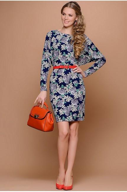 Купить синее платье Stets с цветочным принтом