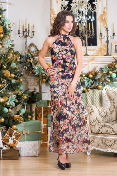 Длинное платье Angela Ricci с цветочным принтом