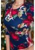 Темно-синее платье с цветами от Angela Ricci