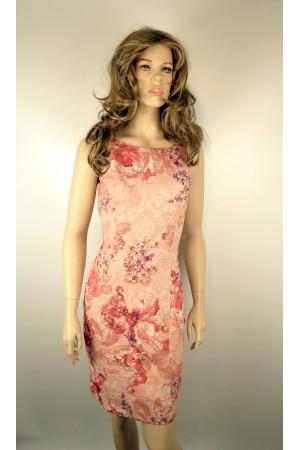 Светлое летнее платье tops&tops с цветочным рисунком
