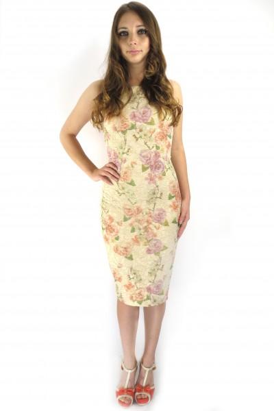 Летнее приталенное платье FRENCH HINT с цветами