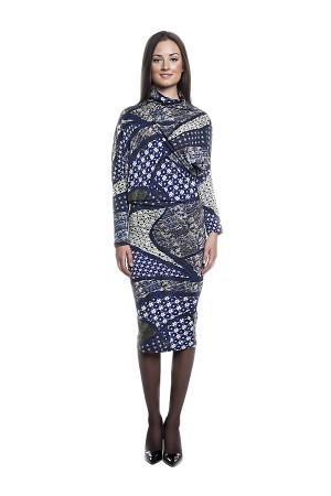Теплое длинное платье tops&tops из шерсти