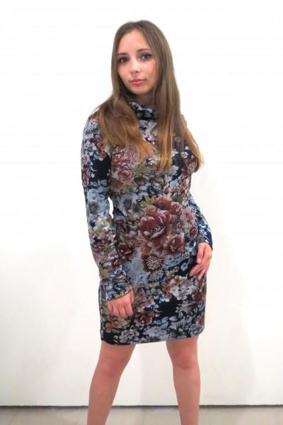 Повседневное платье Colambetta с длинным свободным рукавом