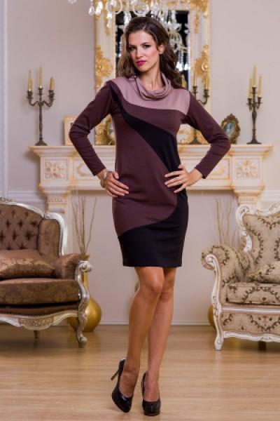 Офисное платье Angela Ricci в темных и светлых тонах