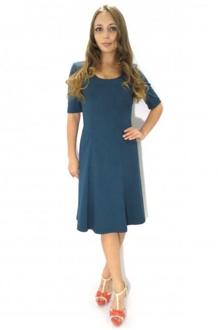 Строгое платье Валентина для офиса с ремешком