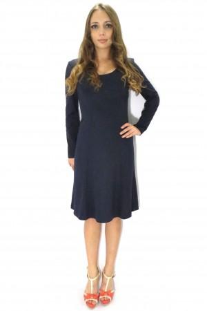 Тёмное платье Валентина для офиса