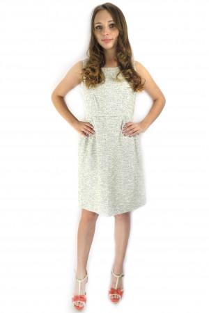 Светло-серое платье VILA на каждый день