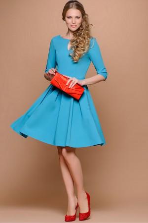 Яркое голубое платье Stets с пышной юбкой