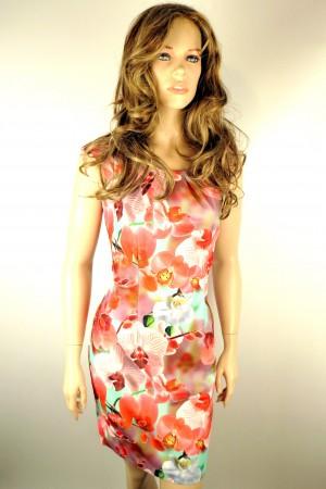 Платье Настаси без рукавов с вырезом лодочка