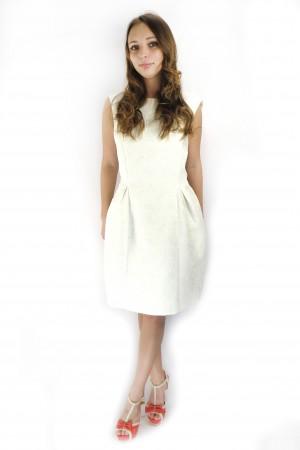 Белое коктейльное платье PEOPLE из хлопка