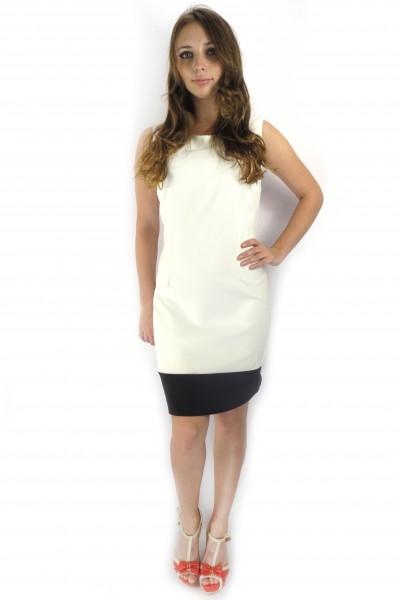 Белое платье tops&tops с черной полосой снизу