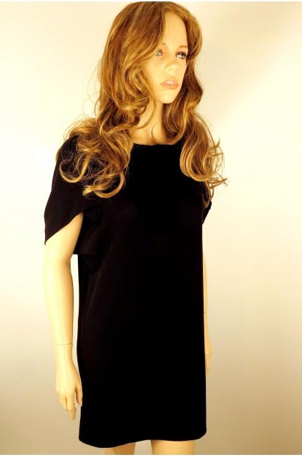 Черное короткое платье LEVALL