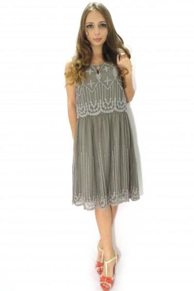Серое платье Kaffe из полиэстера