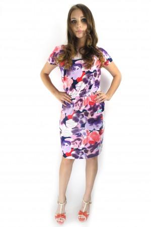 Яркое цветочное платье FAQ FASHION с резинкой на талии