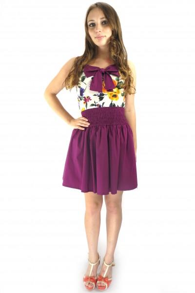 Фиолетовое цветочное платье RINASCIMENTO