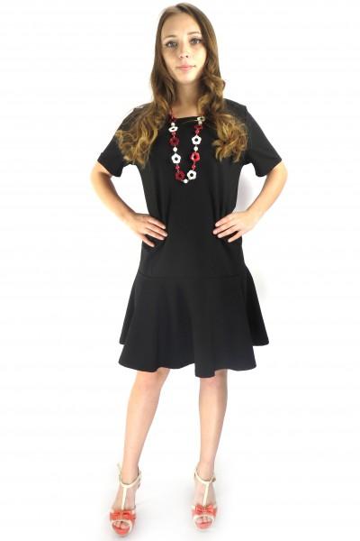 Черное офисное платье VILA с свободной юбкой
