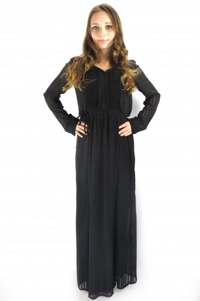 Черное длинное вечернее платье VILA в пол