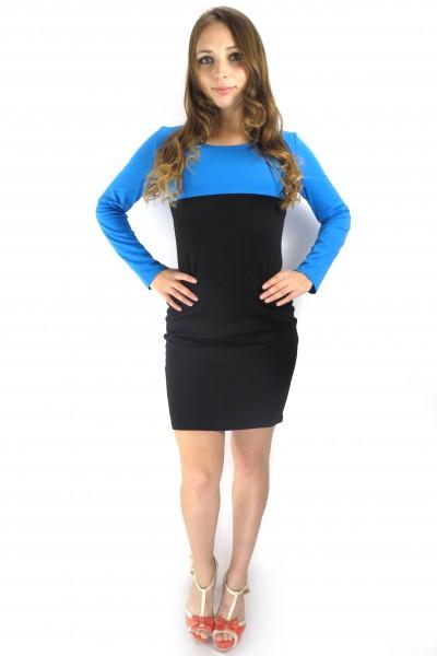 Черное снизу и синее сверху платье FAQ FASHION