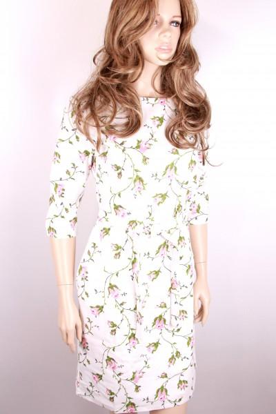Светлое платье FAQ FASHION с цветочным принтом