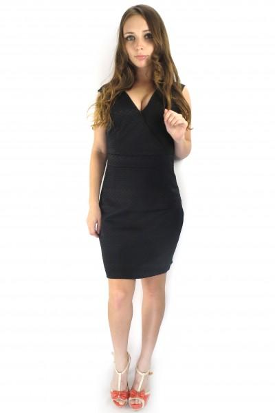 Черное коктейльное короткое платье VILA