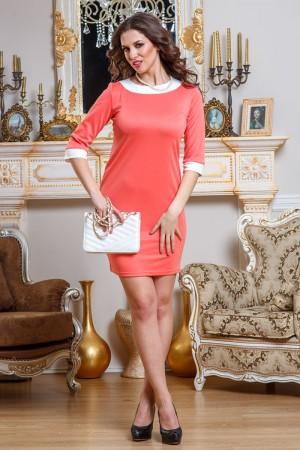 Платье Angela Ricci нежно-персикового цвета с белыми вставками