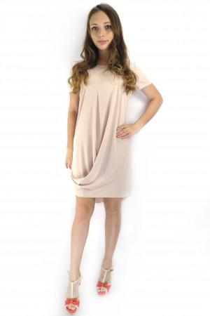 Легкое коктейльное платье RINASCIMENTO нежно-розового цвета