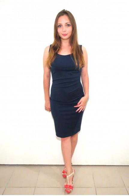 Темно-синее офисное платье RINASCIMENTO приталенное