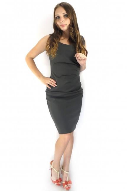 Классическое офисное платье RINASCIMENTO серого цвета