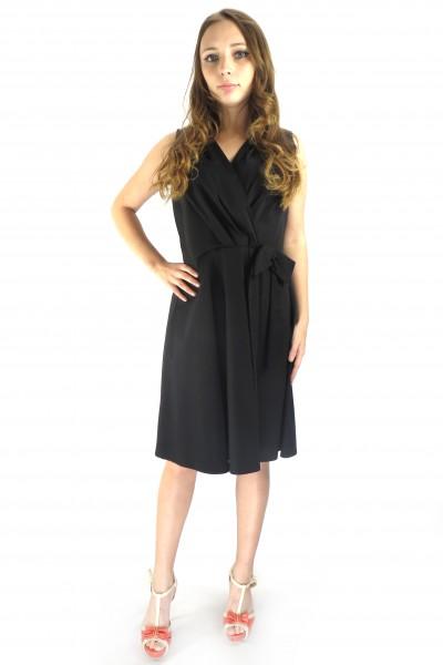 Черное платье RINASCIMENTO с бантом на талии