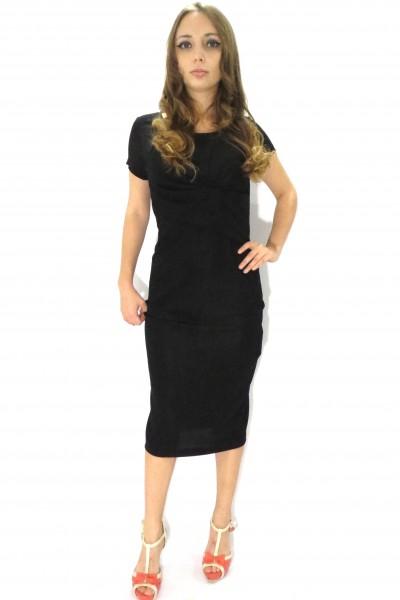 Черное вечернее платье RINASCIMENTO ниже колена