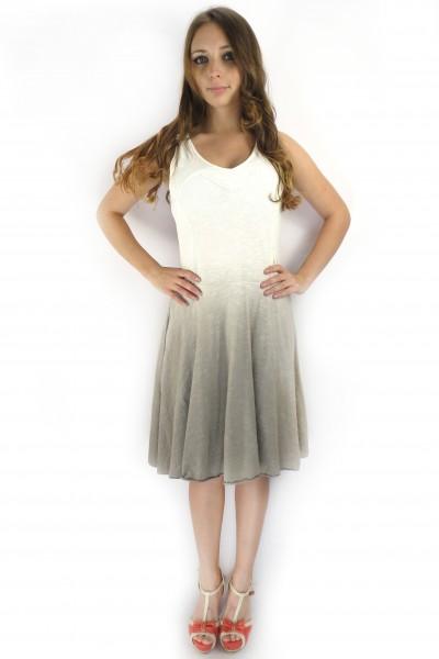 Бело-кофейное платье RINASCIMENTO градиент