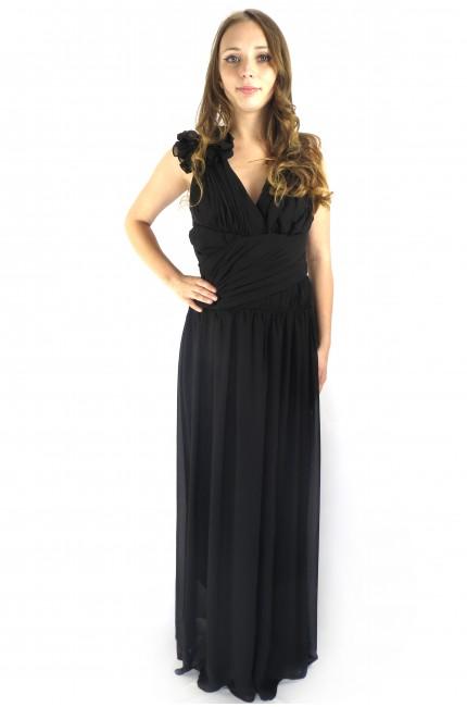 Вечернее черное длинное платье RINASCIMENTO в пол