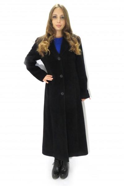 Удлиненное черное пальто Expression классического кроя
