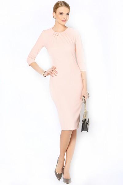 Персиковое платье ARBOR VITAE классического кроя