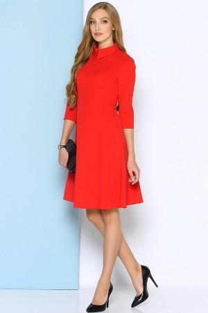 Красное платье Stets с классическим воротником на пуговицах