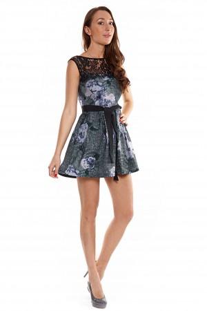 Темное платье RINASCIMENTO с кружевным верхом