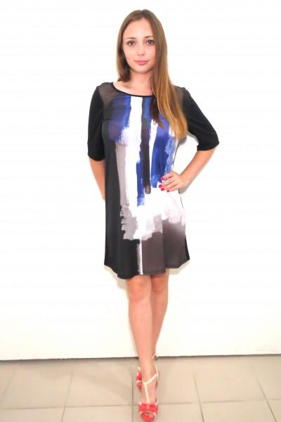 Черное платье RINASCIMENTO с прозрачными плечами и спиной