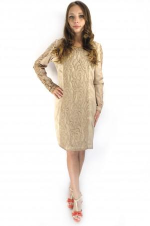 Бежевое платье Cream с гипюровой отделкой