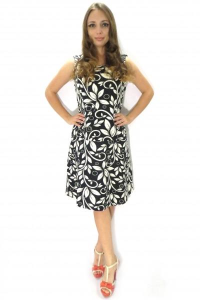 Черное платье Cream с белым узором цветов