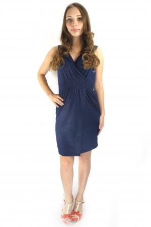 Синее блестящее платье ONLY с резинкой