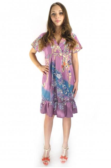 Летнее платье UTTAM BOUTIQUE розового цвета