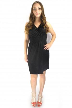 Черное блестящие платье ONLY короткой длины